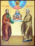 St Peter and St Paul, Pillars of the Church, Byzantine Icon