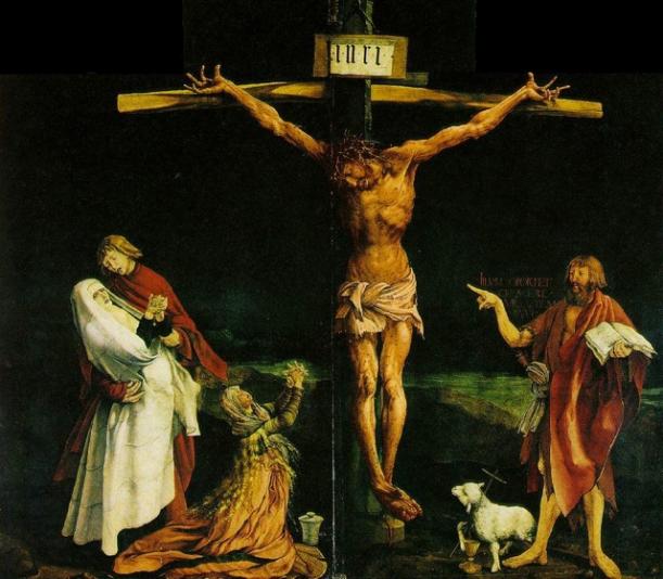 The Isenheim Altarpiece, Matthias Grunewald, 1512-1516, Unterlinden Museum, Colmar, Alsace, France.