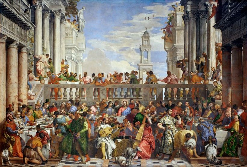 The Wedding Feast at Cana, Paolo Veronese (1563), Oil on Canvas, Louvre, Paris.