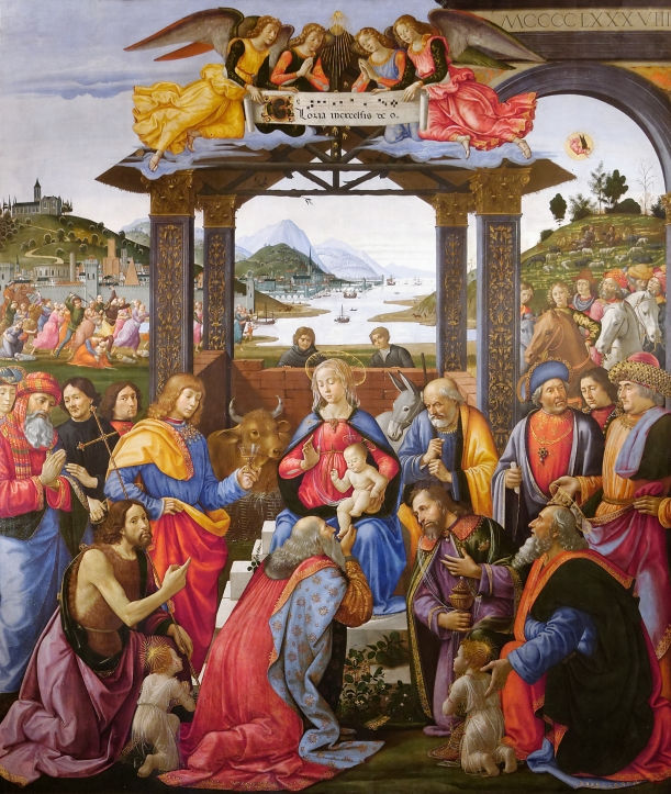 Adoration of the Magi, Domenico Ghirlandaio, 1485-1488, Tempera on Panel, Ospedale degli Innocenti, Florence.
