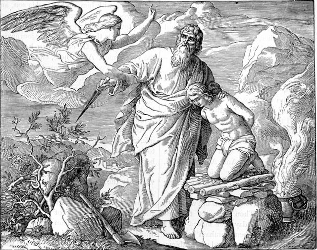Abraham and Isaac, Henry Davenport Northrop, 1894, Treasures of the Bible, illustration.