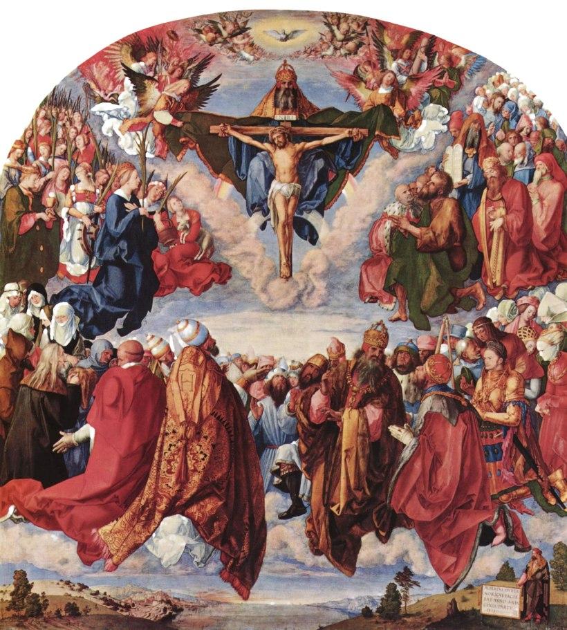 Adoration of the Trinity (Landauer Altarpiece), Albrecht Dürer, 1511, oil on poplar panel, Kunst-historisches Museum, Vienna.