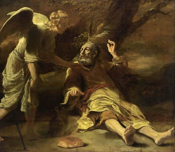Elijah fed by an angel, Ferdinand Bol, 1660-1663, Private collection, New York.