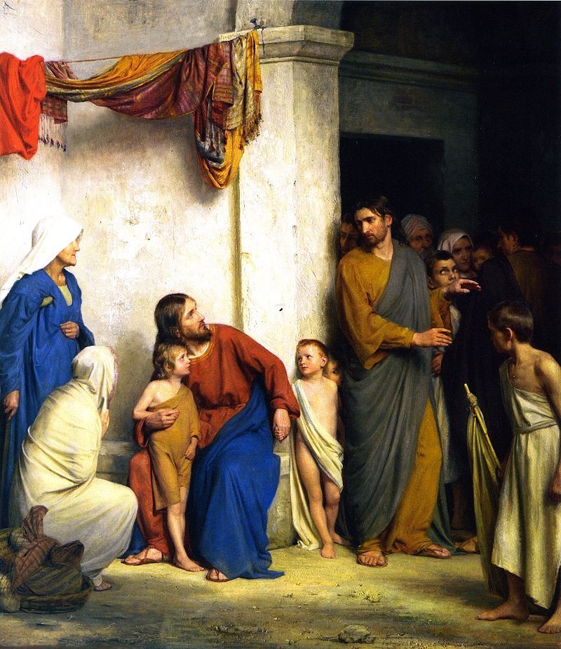 Christ with Children, Carl Heinrich Bloch, 1834-1890, Frederiksborg Palace, Copenhagen, Denmark.