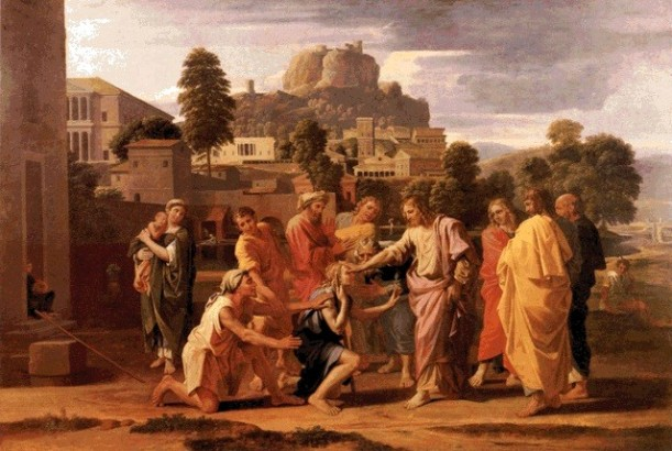 The Healing of the Blind Man of Jericho, Nicholas Poussin, 1650, oil on canvas, Musée du Louvre, Paris.