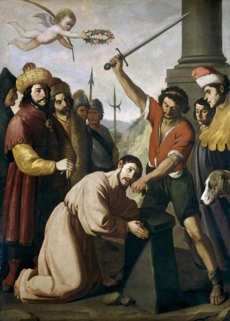 The Martyrdom of St James, Francisco di Zurbaran, 1639, Museo Nacional del Prado, Madrid.