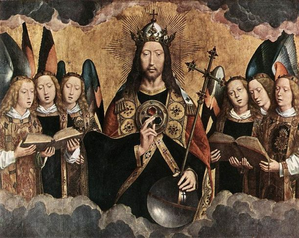 Hans_Memling_-_Christ_Surrounded_by_Musician_Angels_-Christ the King