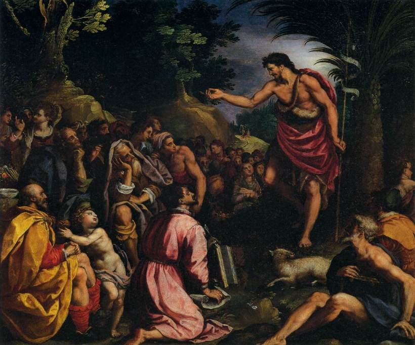 Preaching of John the Baptist-Alessandro Allori
