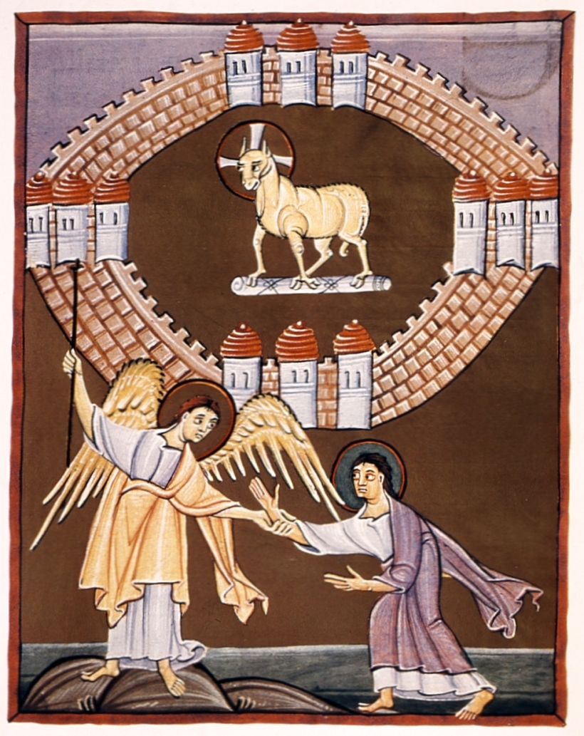 Bamberg Apocalypse 55r New Jerusalem