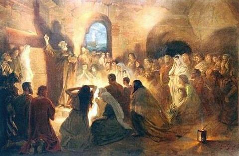 JanStyka-Saint Peter preaching in Catacombs