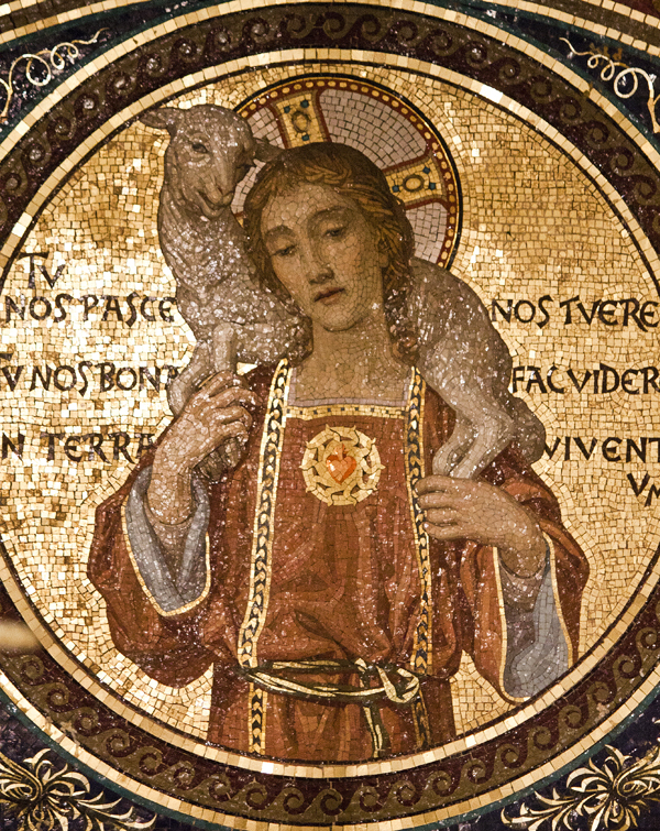 San Lorenzo Fuori Le Mura Good Shepherd Mosaic-600px