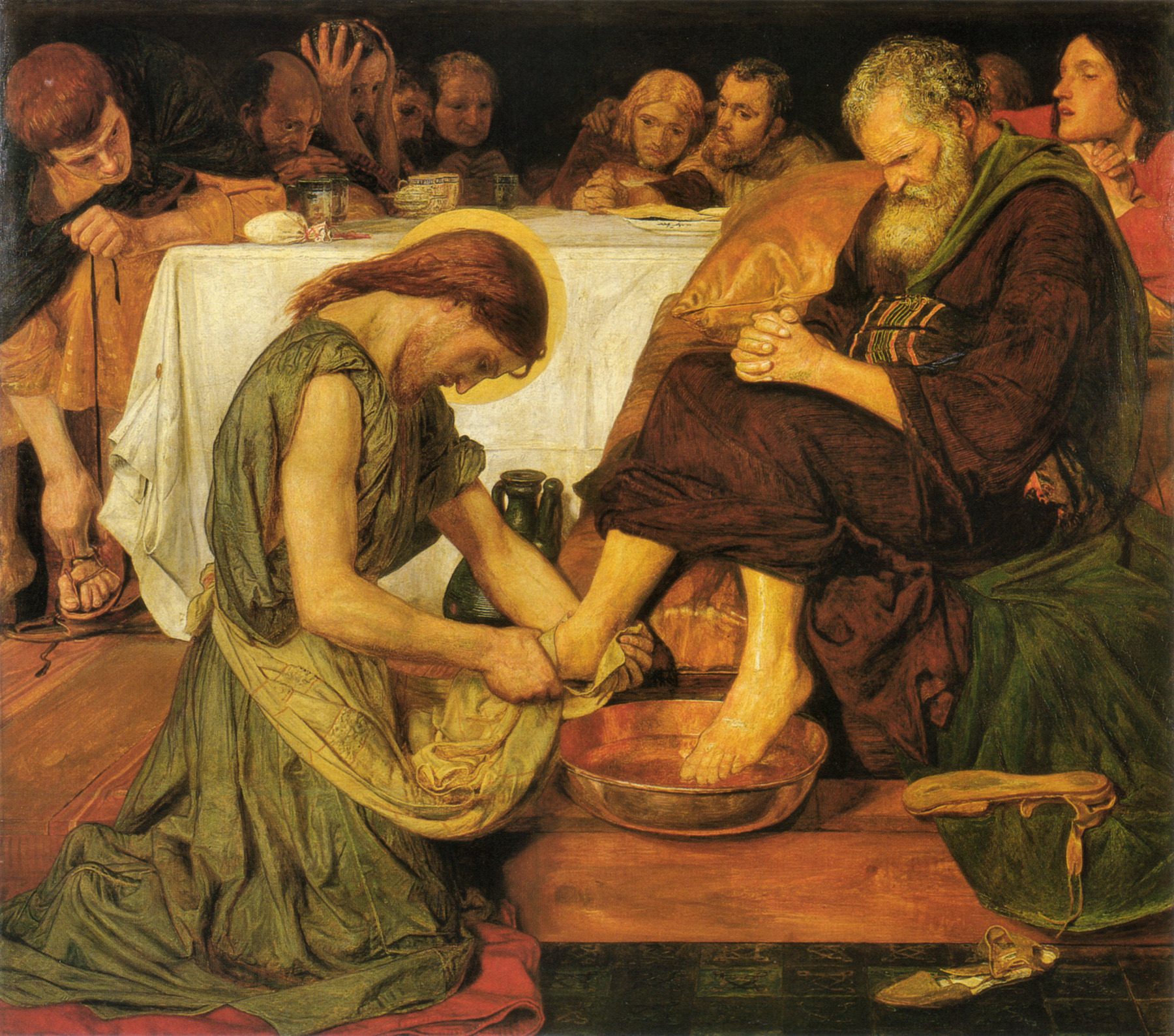 Jesus_washing_Peter's_feet-Ford Madox Brown
