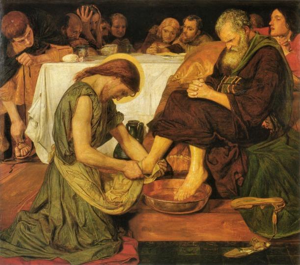 Jesus_washing_Peter's_feet-Ford Madox Brown