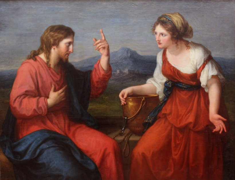 Angelika Kauffmann Christ and the Samaritan Woman at the well 1796